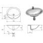 Раковина CERSANIT Calla 54 встраиваемая на столешницу круглая с отверстием белая
