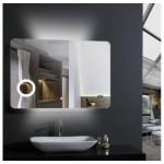 Зеркало Mixline Voll 1000х700мм с сенсорным выключателем и часами