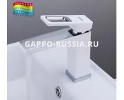 Смеситель Gappo Futura G1017-8 для раковины (белый-хром)